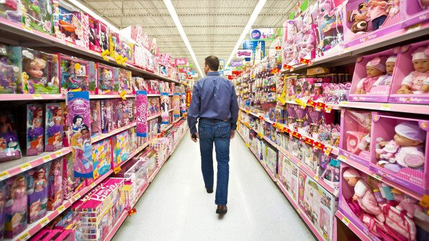 Walmart Toys Department : Gender neutral parenting ways to avoid implicit sexism